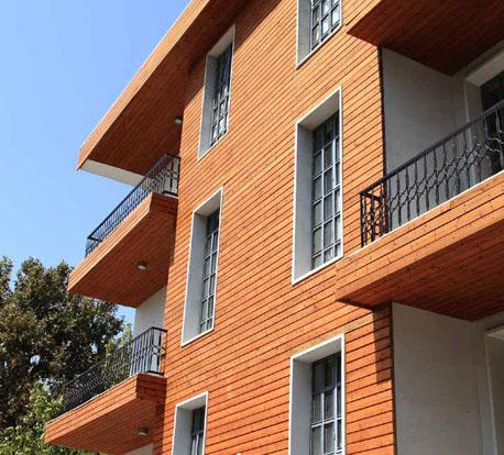 نمای ساختمان   آکاد   نمای چوب   نمای ترمووود   نمای ترموود